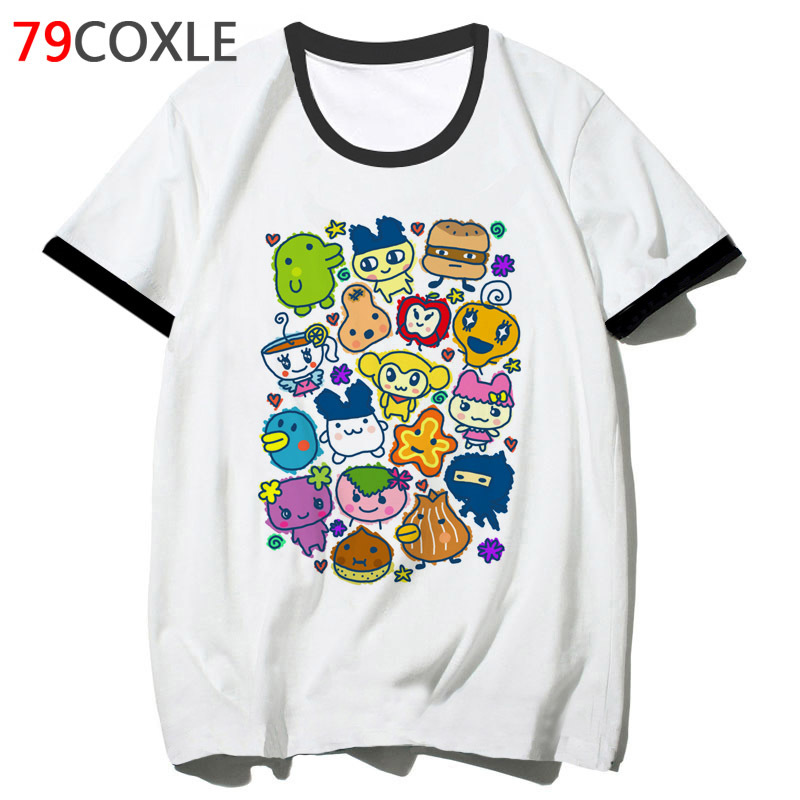 Tamagotchi Tama Friends T Shirt Streetwear Funny Top Harajuku 2019 School Men Tee Hip Hop T-shirt Tshirt Male For Clothing F4779
