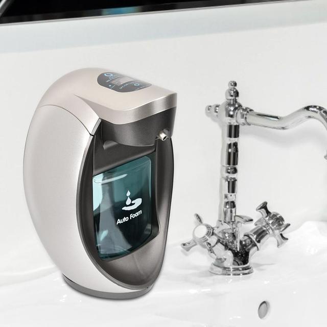 480 مللي الاستشعار التلقائي رغوة الصابون زجاجة لوشن تعمل بالضغط المطبخ الحمام Touchless المطهر غسل اليد موزع صابون الاستشعار مضخة Hot
