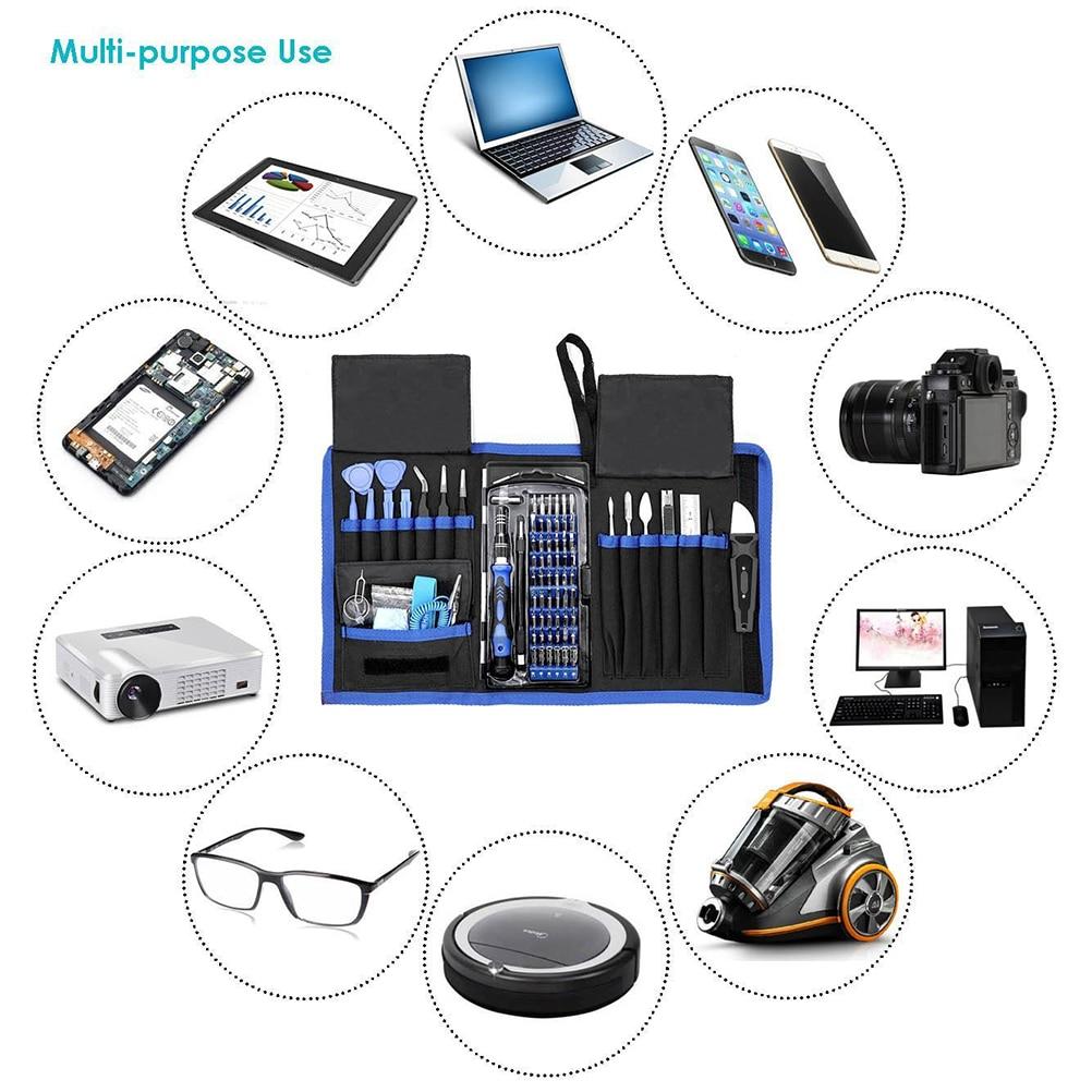 80Pc Screwdriver Precision Repair Electronics Universal Opening Screwdriver Tools Set for PC Camera Phone Tablet