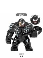 10 шт. Venom e Человек паук Дэдпул, фигурки, строительные блоки, кирпичи, игрушки для детей XH893