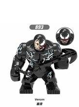 10 stücke Venom e Spiderman Deadpool Action figur Bausteine Ziegel Spielzeug für Kinder XH893