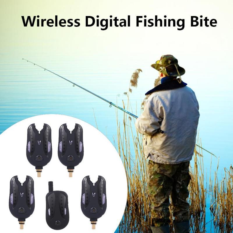 JY-17 électronique sans fil numérique pêche morsure alarmes Set LED Flash son alerte indicateur récepteur pour la pêche de la carpe pas de batterie