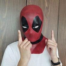Deadpool 2 máscara halloween masquerade festa máscaras cosplay filme super-herói mascara de látex realista carnaval máscara