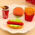 1 шт. креативная Милая кавайная гамбургерная еда напиток Кола ластик школьные принадлежности для офиса детский подарок искусственная Новин...