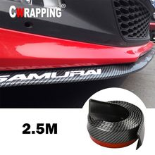 Parachoques delantero Universal para coche, fibra de carbono, divisor de goma, alerón de barbilla, falda lateral, Protector de goma, Kit de carrocería antiarañazos