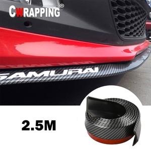 Image 1 - Samochód uniwersalny przedni spojler zderzaka z włókna węglowego gumowy Splitter podbródek Spoiler boczna dokładka gumowy Anti Scratch Protector Body Kit Trim