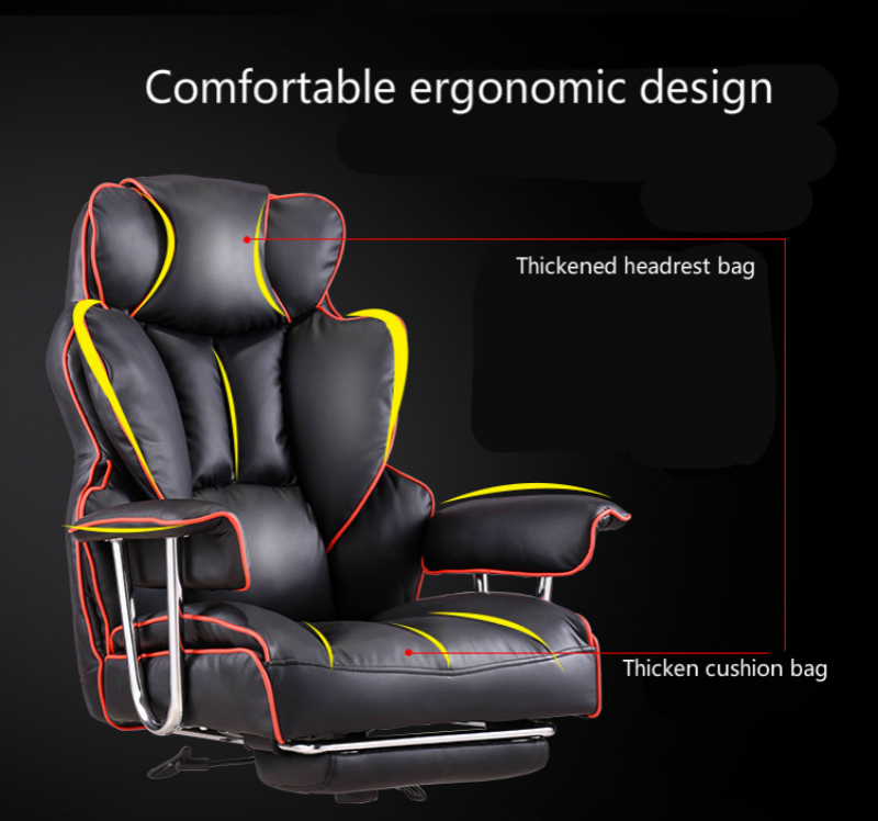 Купить с кэшбэком Luxurious Thickening Boss Chair Reclining Comfortable Massage Chair Seat with Footrest Lifted Swivel Office Chair Gaming Chair