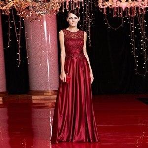 Image 5 - 安いサテンゴールドロイヤルブルーイブニングドレスのエレガントなフォーマルパーティー母のための花嫁のドレスプラスサイズ