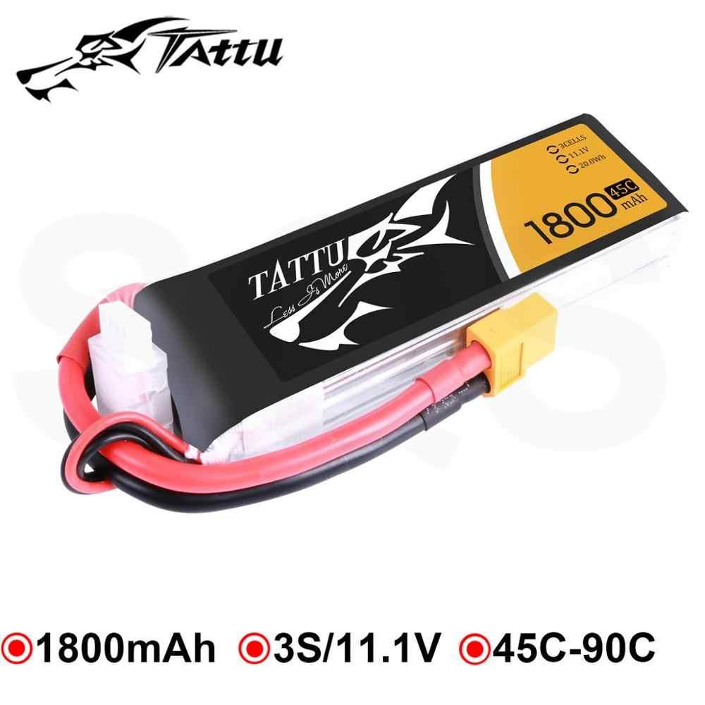 Tattu Lipo 3S 1800mAh 11,1 V batería de Lipo de 45C XT60 Plug RC recargable de fpr Skylark M4 250 FPV Drone marco RC Quadcopter