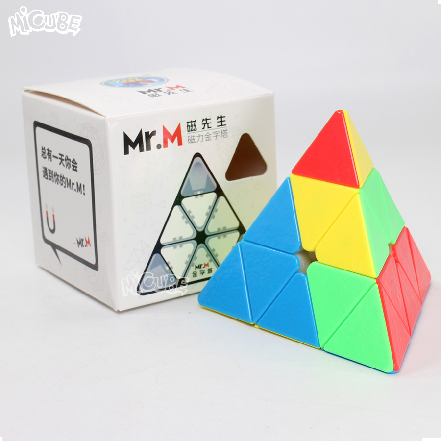 Shengshou Mr.M Magnetic Pyramid Mr M Cube Magic Speed Puzzle Cubo Magico Stickerless Toys For Children Cubo Magico