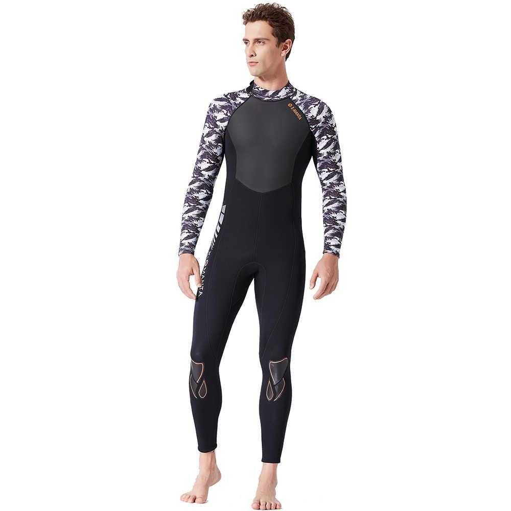 Lixada erkek Termal dalgıç kıyafeti 1.5 MM/3.0 MM UV Koruyucu Wetsuit Dalış Tüplü Sörf Yüzme Neopren Uydurma Dalış