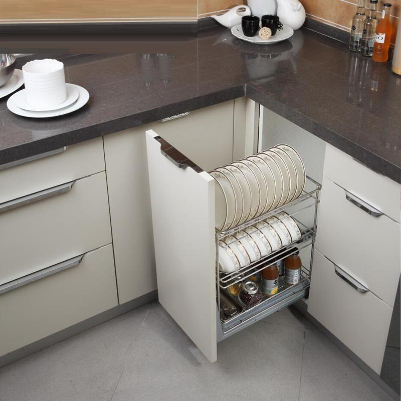 Us 118 27 38 Off Pantry Accessories Organizer Cucina Drainer Dish Stainless Steel Rack Cuisine Kitchen Cabinet Cestas Para Organizar Basket In Racks