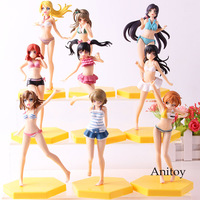 9pcs/set School Idol Diary Nozomi Tojo Nico Yazawa Eli Ayase Minami Kotori Nishikino Maki Love Live Anime Action Figures Toys
