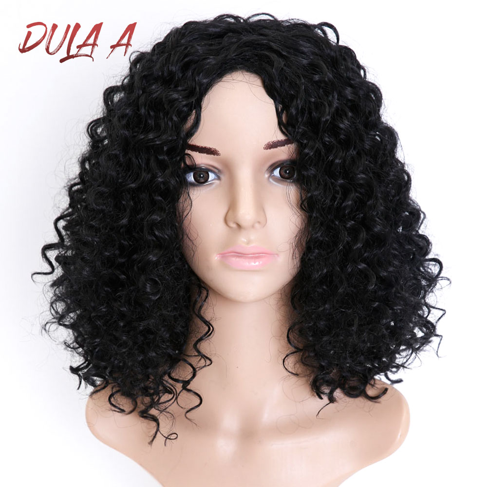 Short Black Wig Deep Wave High Temperature Fiber 12 Inches 150% Heavy Density Synthetic Wigs For Women Daywear Party Cosplay