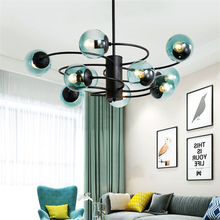 Modern Led Glass Pendant Lights Contemporary Hotel Lobby Living Room Restaurant Hanging Lamp Kitchen Fixture Luminaire Lighting pendant lights led lamp modern hanglamp aluminum remote control dimming hanging lighting fixture living room kitchen restaurant
