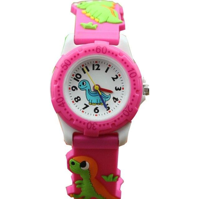 NAZEYT Children Watch 3D Cartoon Kids Watches Boys Girls Clock Child Dinosaur Silicone Strap Quartz Watch Students Gifts Watch