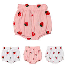 summer Cute Toddler Infant Newborn Baby Kids Girl Harem Shorts Strawberry Cherry Beach Pants Bottoms PP Bloomers Panties 0-3T(China)