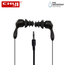 CHYI Waterproof In-ear Earphone IPX5 Colorful Headset Hifi Earbud Bass Earphones swim sports Stereo Ear phones For Phone PC Ipod
