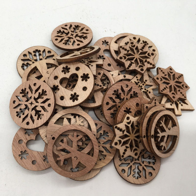 54 stücke Blank Holz Hexagon Plain Unfinished Wood Crafts Scrapbook für