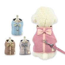 Pet Dog Harness  Cat Bowknot Lovely Breathable Vest Type Traction RopeKitten Puppy Collar New Supplies