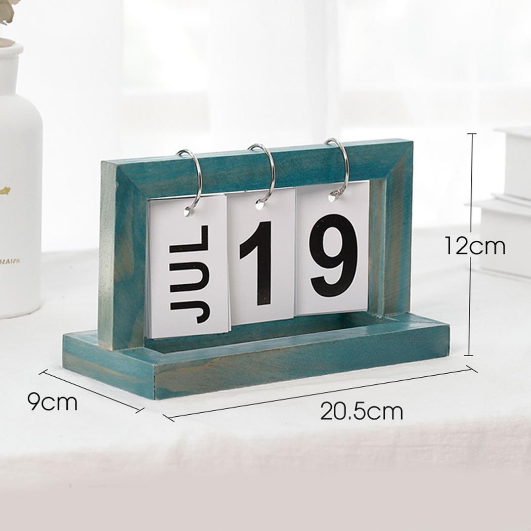 UnermüDlich Schreibtisch Tisch Holz Flip Monat Datum Kalender Hause Kalender Ornamente Geeignet Für Wohnkultur Handwerk Dekoration Einfach Zu Schmieren Office & School Supplies