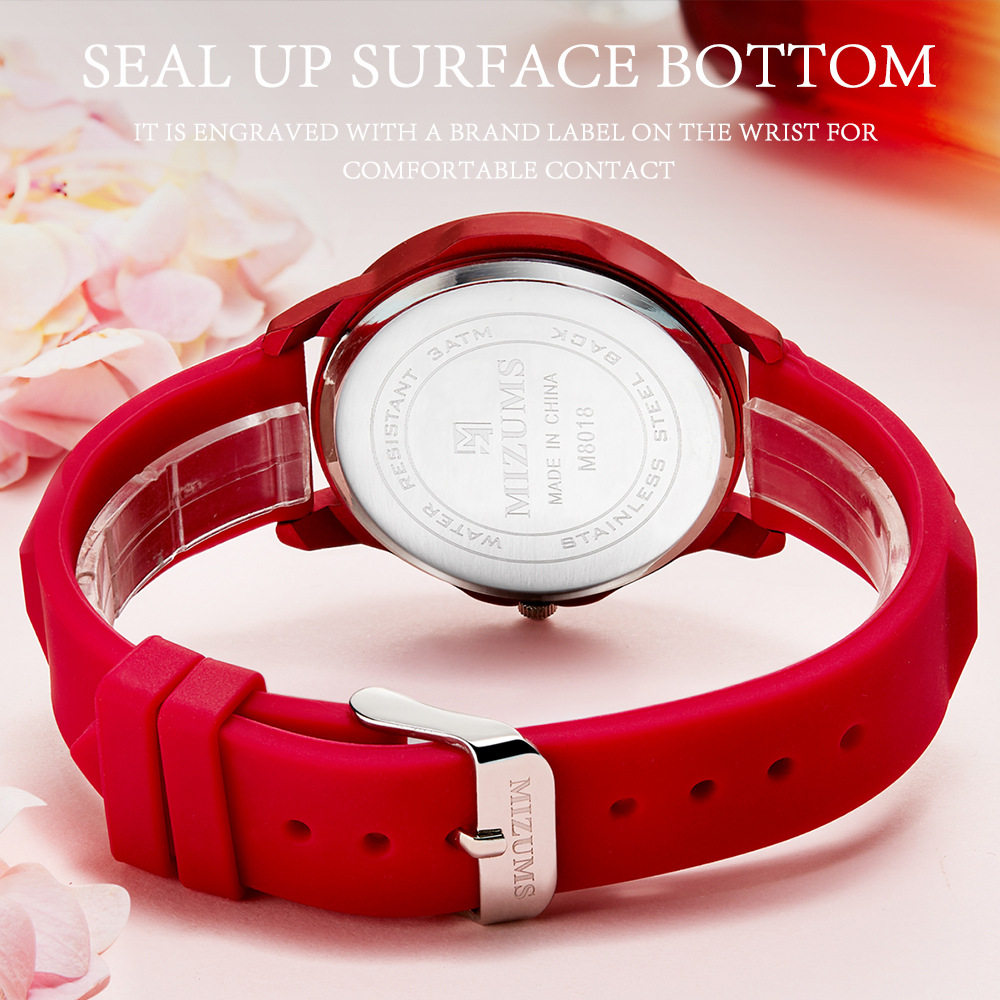 2019 New MIZUMS Women 39 s Watch Student Silicone Quartz Watch Waterproof Watch Fashion Casual Female Watches Relogio Masculino in Women 39 s Watches from Watches