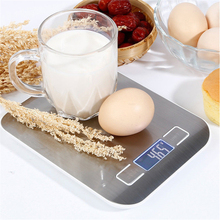 1 Stks Lcd Display Weight Balance Due To Stainless Steel Kitchen Digital Scale Device Electronic Digital Scale Kitchen Supplies scale kitchen gemlux gl ks5sb lcd display max load 5 kg автоотключение to save battery reset weight tare stainless steel
