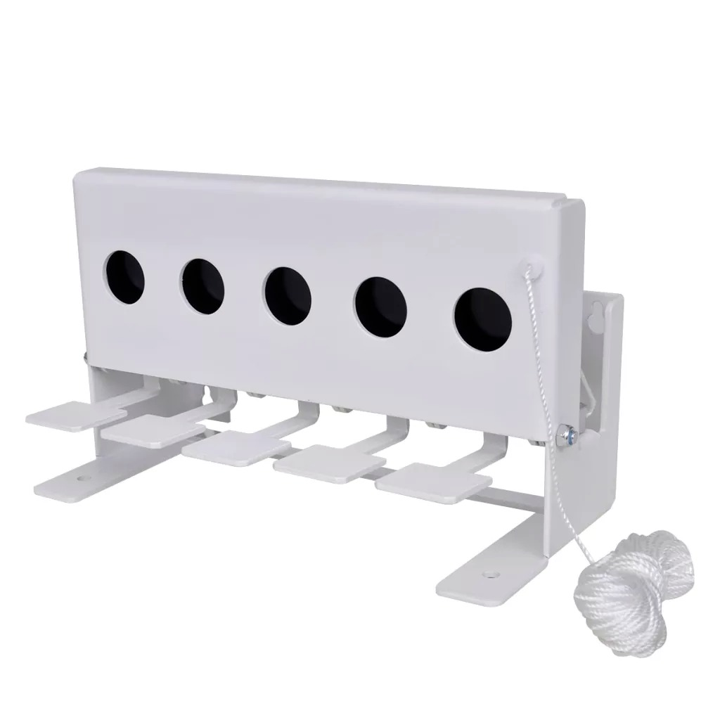 5-Hole Biathlon Knockdown Target With Reset Cord Wall-Mounted / Free-Standing Biathlon Knockdown Targe Shooting Training Tools
