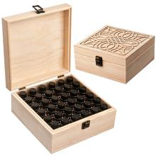 купить 36 Slot Essential Oil Bottle Wooden Storage Box Case Aromatherapy Oil Bottle Organizer Premium Wooden Makeup Case Holder дешево