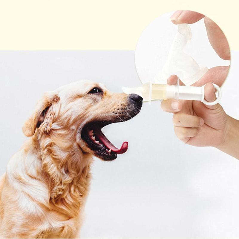 Dog Cat Pacifier-type Drug Feeder Anti-choke Needle Feeder Medicine Dropper Dispenser Pill Injection Pacifier WScale Pet Feed