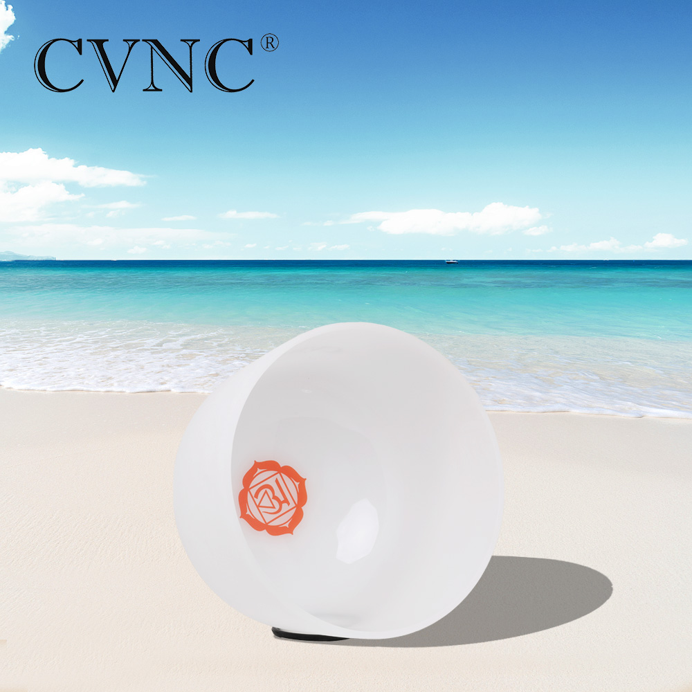 CVNC 10 Inch C Root Red Chakra Symble Pattern Quartz Crystal Singing BowlCVNC 10 Inch C Root Red Chakra Symble Pattern Quartz Crystal Singing Bowl