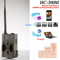 1pcs HC300M 1080P 12MP Hunting Cameras Photo Traps Email MMS GSM Outdoor Camping Trail Night Vision Digital Wildlife Camera