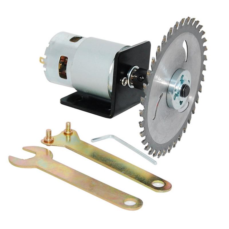 795 High Speed Motor Garden Mower Set,12V 24V 180W Diy Small High Power DC Motor,motor+Saw Blade Chuck Bracket Saw Blade,J18472