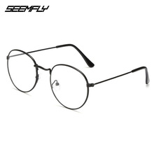 Seemfly Oval Metal Reading Glasses Clear Lens Men Women Presbyopic Glas