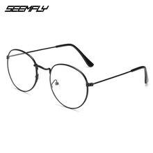 Seemfly Oval Metal Reading Glasses Clear Lens Men Women Pres