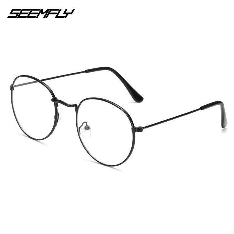Seemfly Oval Metal Reading Glasses Clear Lens Men Women Presbyopic Glasses Optical Spectacle Eyewear Prescription 0 to +4.0