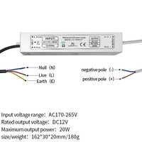 12V netzteil IP67 wasserdichte konstante stromwandler LED lampe stabile IC ballast 10 W/20 W/ 30 W/45 W/60 W/80 W/100 W spot