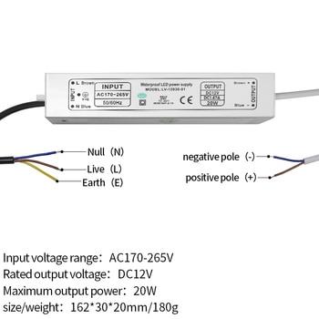 12V alimentazione IP67 impermeabile costante trasformatore di corrente HA CONDOTTO LA lampada stabile IC ballast 10 W/20 W/ 30 W/45 W/60 W/80 W/100 W spot