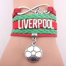 GVUSMIL Drop Shipping Infinity Liverpool Soccer Bracelet Football Team Friendship Gift