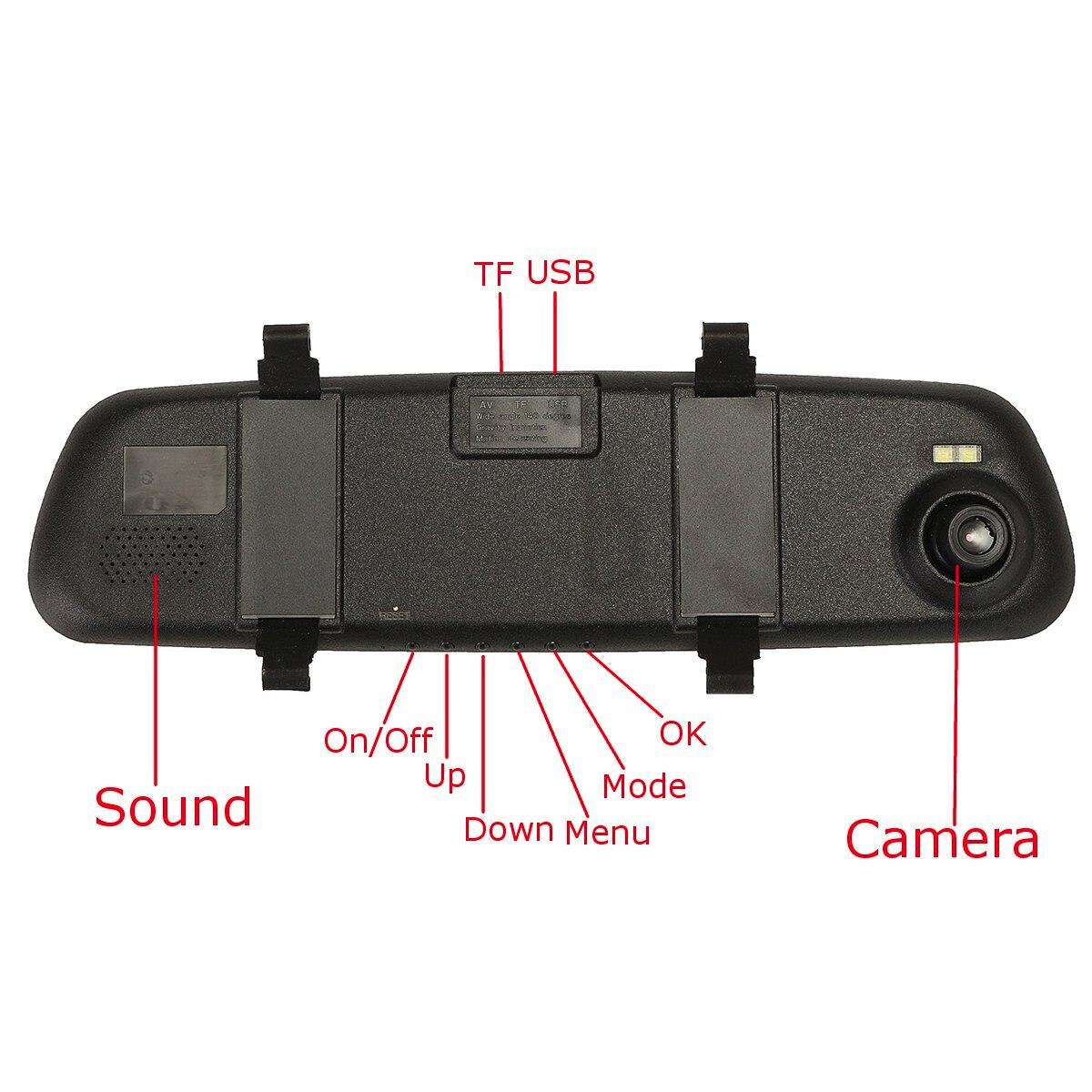 2.4'' 720P HD Rearview Smart Mirror Camera Monitor Dashboard Cam DVR Recorder 3