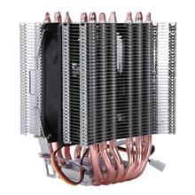 Lanshuo 6 тепловая труба 3 провода без светильник вентилятор ЦП вентилятор Радиатор кулер теплоотвод для Intel Lga 1155/1156/1366 охладитель тепла