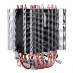 Lanshuo 6 тепловая труба 3 провода без света один вентилятор процессор вентилятор радиатора кулер теплоотвод для Intel Lga 1155/1156/1366 охладитель тепла