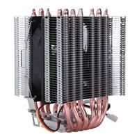 Bilgisayar ve Ofis'ten Fanlar ve Soğutma'de Lanshuo 6 ısı borusu 3 tel olmadan ışık tek Fan Cpu Fan radyatör soğutucu isı emici Intel Lga 1155 için /1156/1366 soğutucu ısı