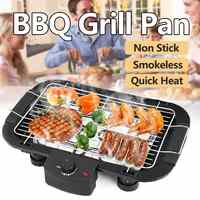 Outdoor Portable Smokeless Electric Pan Grill BBQ Stove Electric Griddle Barbecue 5 Temperature Mode for Home Camping