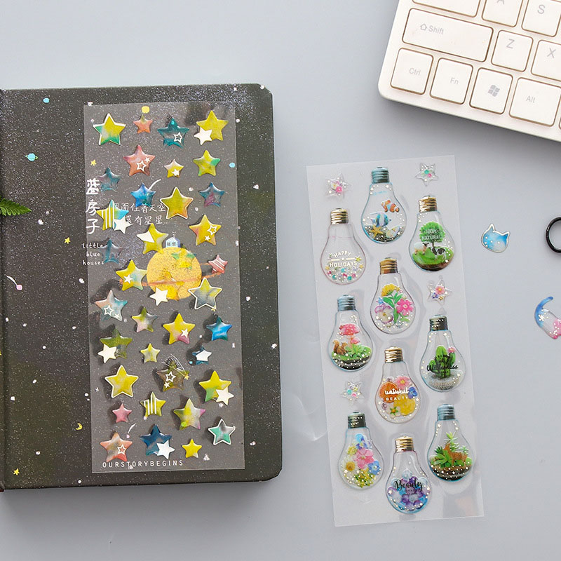 1 Sheet Crystal 3D Stickers Cute Stars Dessert Decorative Adhesive Stickers For Mobile Decor Scrapbooking Diary Material Escolar1 Sheet Crystal 3D Stickers Cute Stars Dessert Decorative Adhesive Stickers For Mobile Decor Scrapbooking Diary Material Escolar