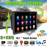 10,1 автомобильный мультимедийный плеер 8 Core 1Din стерео 2 + 32G для Android 8,0/8,1 с поворотным экраном 360 градусов устройство для автомобиля с GPS, Wi Fi и р