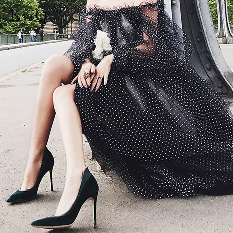 Deux Hauts green Black À Femmes Chaussures Talons Nouveau Pointu Talon Bout Velours red D'orsay Cm 9 Marques Designer pièce Parti Stiletto Pompes PgnRY