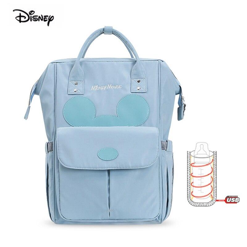 2019 nouveau sac à dos de maternité Disney Mickey Mouse pour bébés isolation Usb chauffage multi-fonction grande capacité sac à couches pour maman