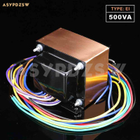 115V/230V OFC 500VA EI type transformer 24V*2 With copper foil shield for Audio amplifier (Accept custom)