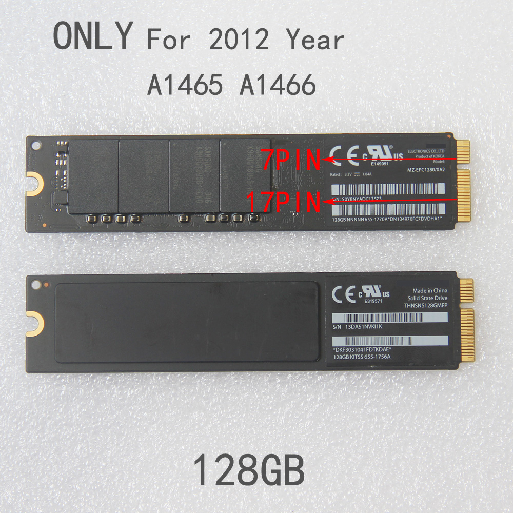 Original 64GB 128GB 256GB SSD For 2012 Apple Macbook Air A1465 A1466 Solid State Drive Md231 Md232 Md223 Md224 Hard disk